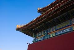 Die Dachgesimsecke von Tai er Hall Lizenzfreie Stockbilder