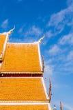 Die Dachspitze des buddhistischen Tempels bei Wat Phrathat Doi Suthep, Chian Stockfotos