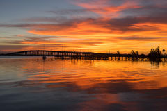 Die Damm Eaus Gallie am frühen Morgen Stockfoto