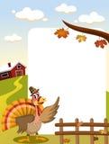 Die Danksagungs-Türkei-Rahmen Lizenzfreie Stockfotos