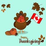 Die Danksagungstag-Türkei-Illustration lizenzfreies stockfoto