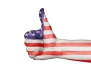 Die Daumen-oben - Vereinigten Staaten von Amerika Lizenzfreies Stockfoto