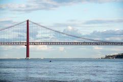 Die 25 de Abril Bridge Lizenzfreie Stockfotografie