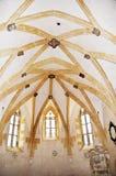 Die Decke der Kapelle von St George in Litovel Stockbilder
