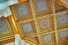 Die Decke von Abu al-Abbas al-Mursi Mosque, Alexandria, Ägypten Stockbild