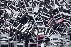 Die defekten Stühle lizenzfreie stockfotos
