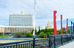 Die Dekorationen zu Victory Day Lizenzfreies Stockfoto