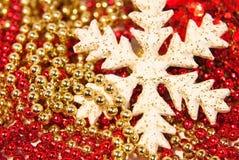 Die dekorative Schneeflocke Lizenzfreies Stockfoto