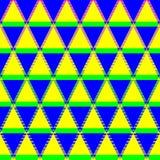 Die dekorativen Rauten mit Dreiecken stock abbildung