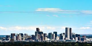 Die Denver-Skyline Lizenzfreie Stockbilder