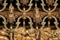 Die Details in einem Tempel in Taiwan Stockfotografie