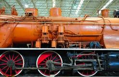 Die Details einer Zuglokomotive stockbilder