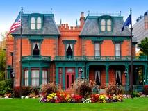 Die Deveraux Villa/das Erbe arbeitet, Salt Lake City im Garten lizenzfreies stockfoto