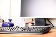 Die Digitalanzeige und die Tastatur Stockfotos