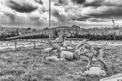 Die Dinosaurier, die innerhalb eines Dino gekennzeichnet werden, parken in Süd-Italien lizenzfreie stockbilder