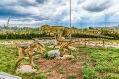 Die Dinosaurier, die innerhalb eines Dino gekennzeichnet werden, parken in Süd-Italien stockfoto