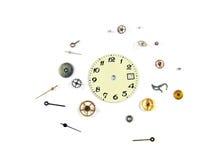 Die disassemblierte Uhr Stockfotografie