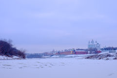 Die Dnieper-Flussansicht Stockbilder