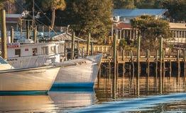 Die Docks in der Farbe Stockfoto