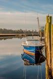 Die Docks in der Farbe Stockfotografie