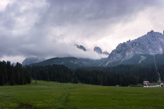 Die Dolomitberge Lizenzfreie Stockfotos