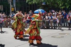 Die dominikanische Parade 24 mit 2015 NYC Tages Stockbild