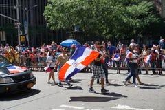 Die dominikanische Parade 25 mit 2015 NYC Tages Lizenzfreie Stockbilder
