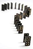 Die Domino-Frage Lizenzfreie Stockfotografie