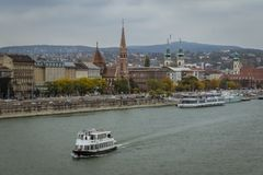 Die Donau Budapest Stockfotografie