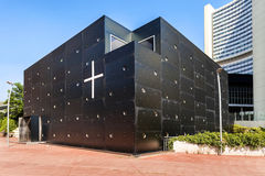 Die Donau-Stadt-Kirche - Christus, Hoffnungs-der Borte ist eine Roman Catholic-Gemeindekirche in Wien, Österreich. Lizenzfreie Stockfotos