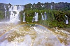 Die donnernden Wasserfälle von Iguazu Stockfoto