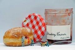 Die Donut-Fabrik stockbild