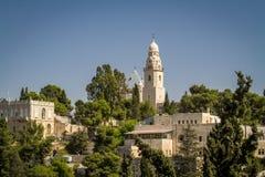 Die Dormitions-Abtei in Jerusalem, Israel Stockbilder