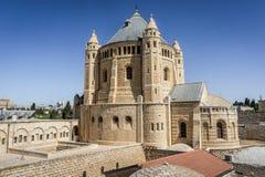 Die Dormitions-Abtei in Jerusalem, Israel Stockbild