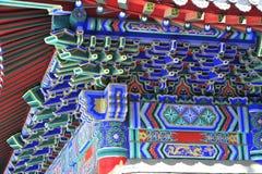 Die Drachekönig-Tempelarchitekturdetails Stockfotografie