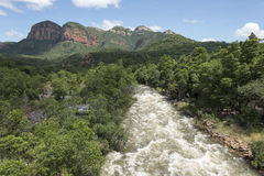 Die Drachenberge in Südafrika nahe hoedspruit Lizenzfreie Stockfotografie