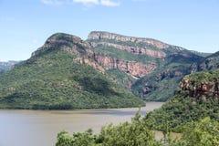 Die Drachenberge in Südafrika nahe hoedspruit Stockfotografie