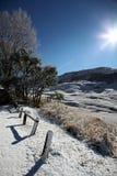 Die Drachenberge-Winter-Landschaft Stockfoto