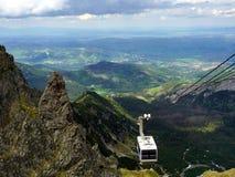 Die Drahtseilbahn zu Berg Kasprowy Wierch lizenzfreies stockfoto