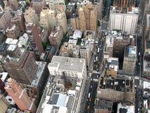 Die Draufsicht über eine Millionenstadt Stockfoto