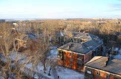 Die Draufsicht über surburb der Stadt von Chelyabinsk Stockbild