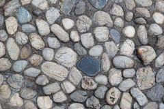 Die Draufsicht der Steine für Hintergrund Stockfotos