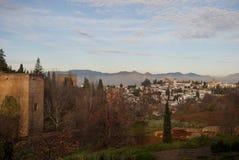 Die Draufsicht von Granada Lizenzfreie Stockfotografie