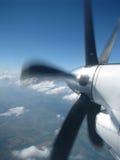 Die drehende Schraube des Flugzeuges Stockbild