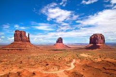 Die drei Buttes am Monument-Tal Stockfotografie