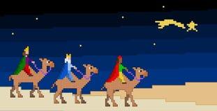 Die drei Pixelated Könige vektor abbildung