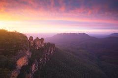 Die drei Schwestern, blaue Gebirgsnationalpark, NSW, Australien lizenzfreie stockbilder