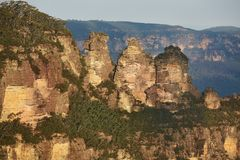 Die drei Schwestern in den blauen Bergen Stockbilder