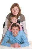 Die drei von uns Stockfoto