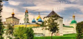Die Dreiheit Lavra von St. Sergius - Sergiyev Posad Stockfotografie